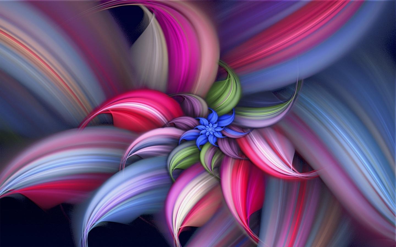 Colorida flor hermosa abstracto Hintergrundbilder - 1440x900
