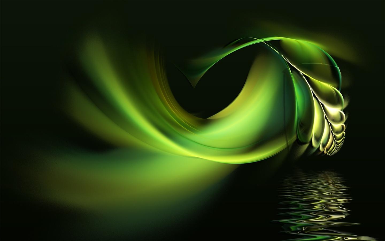 Abstraction Feuilles Vertes Et De L Eau Fonds D 233 Cran