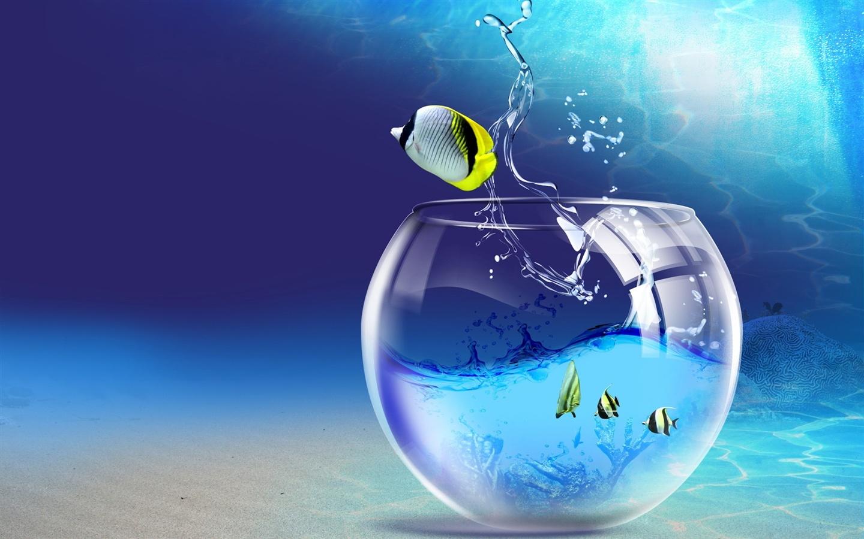 壁紙 創造的想像力熱帯魚 1920x1200 Hd 無料のデスクトップの背景 画像