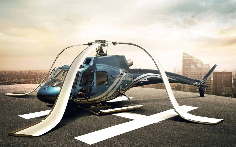 直升機的螺旋槳下垂 桌布 - 1440x900圖片