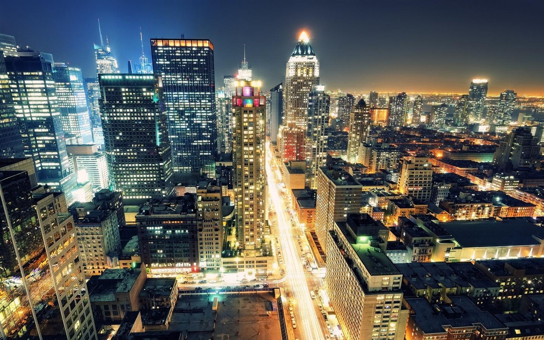 壁紙 ニューヨークの夜景 19x10 Hd 無料のデスクトップの背景 画像