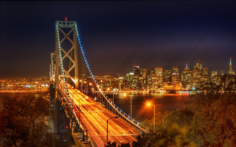 Fonds d 39 cran usa ville pont dans la nuit 2560x1440 qhd image for Fond ecran qhd