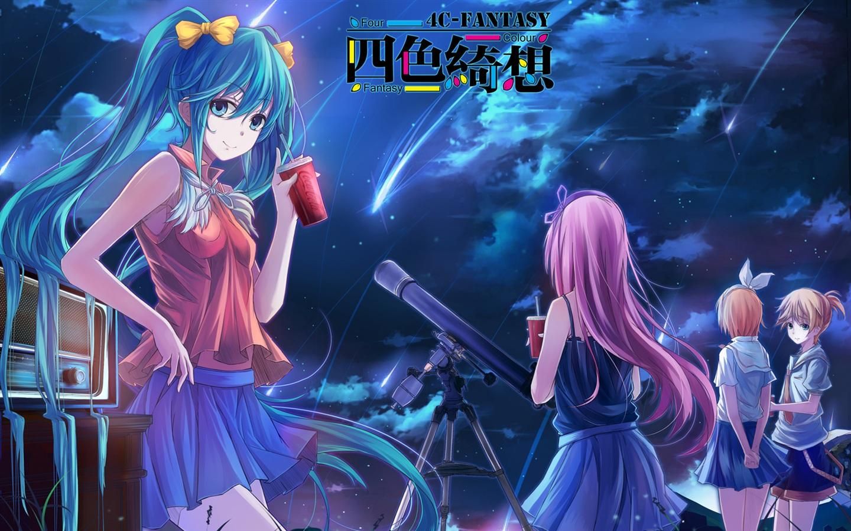 Vier farben fantasy anime mädchen hintergrundbilder 1440x900