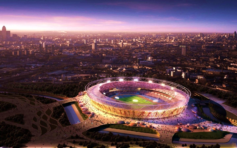 きれいな夜景のオリンピック画像