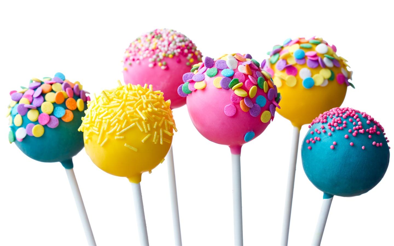 어린이 좋아하는 사탕, 화려한 막대 사탕 배경 화면