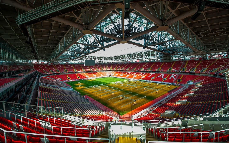 Stadium Soccer Football Sports Qhd Wallpaper 2560x2560: Wallpaper FC Spartak Stadium, Football, Lawn 1920x1200 HD