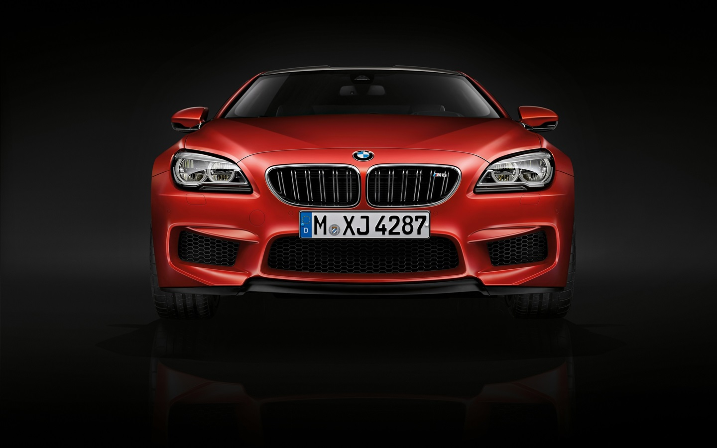 2015 BMW M6 coupe, F13 red car front view Wallpaper  1440x900
