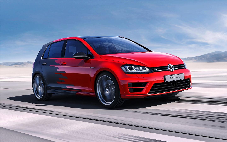 Wallpaper Volkswagen Golf R Concept Red Car Speed 2560x1600