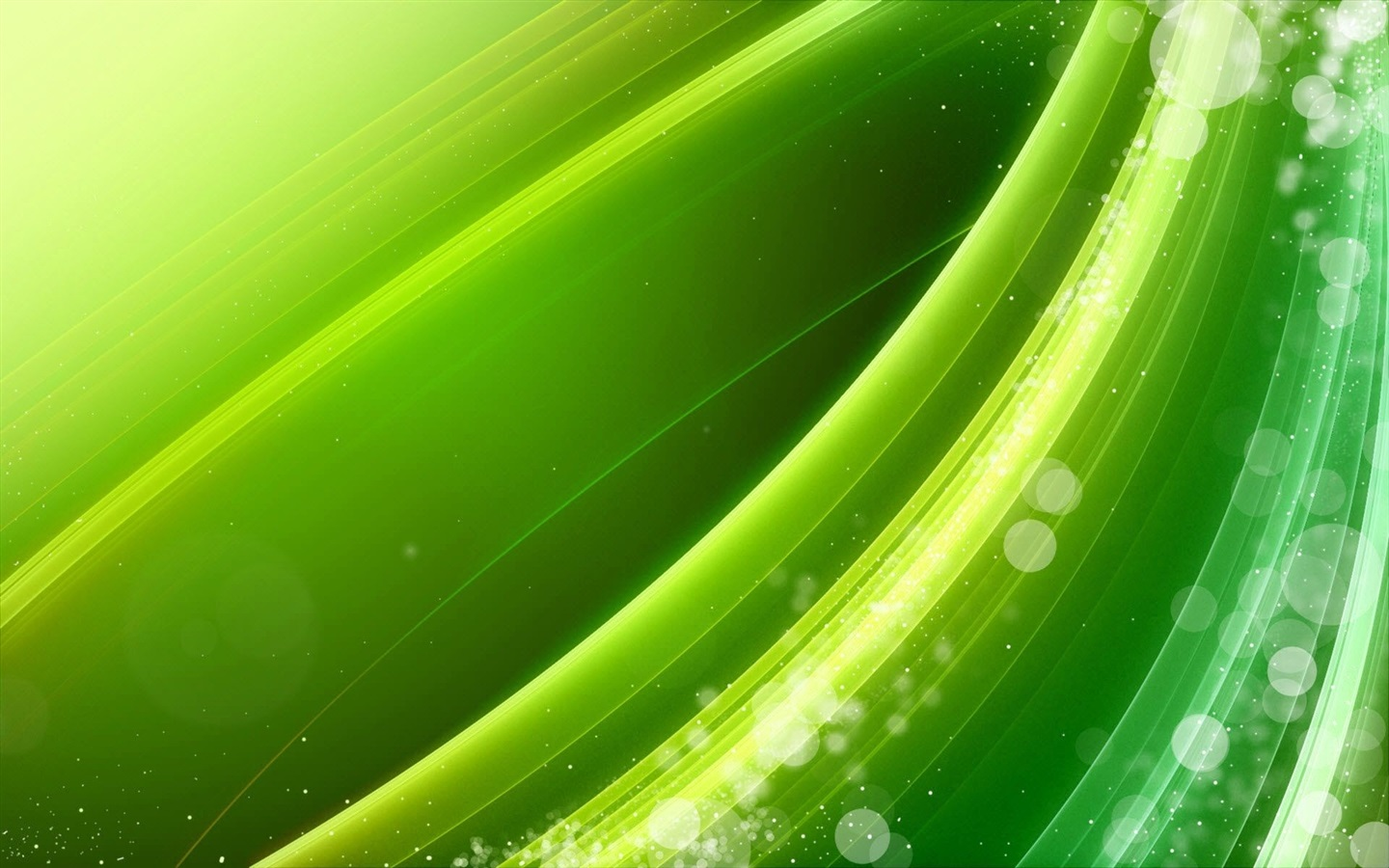 Green Line Wavy Abstract Picture Wallpaper  1440x900