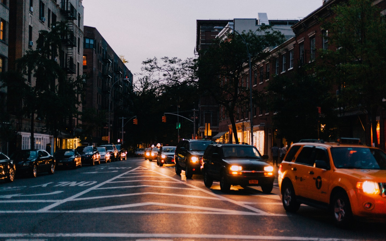 Wallpaper City, night, road, cars, lights 3840x2160 UHD 4K ...