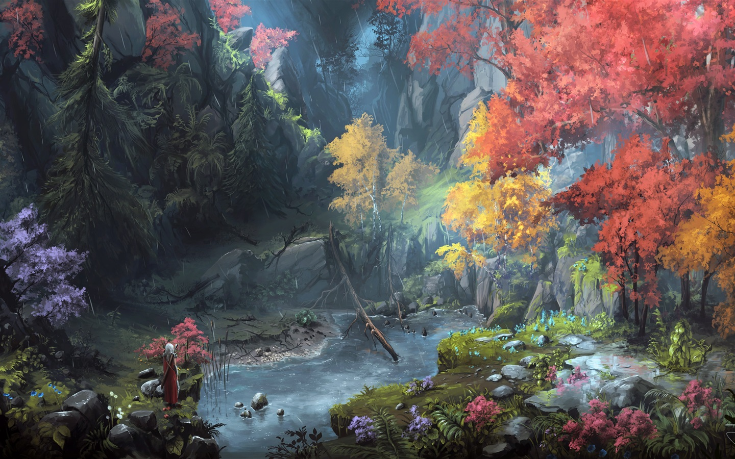 painting with ice wallpaper painting mountains trees autumn 2603