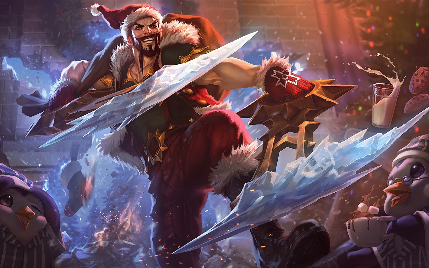 Wallpaper League Of Legends Santa Art Picture 1920x1080 Full Hd