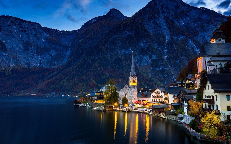 Обои австрия, курорт, ночь, austria. Города foto 8