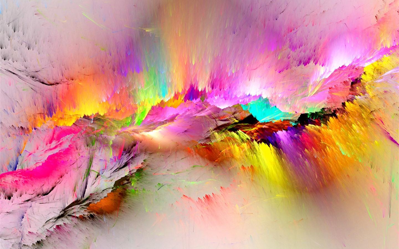 Bright Door Iphone X Hd 4k Wallpaper: Fondos De Pantalla Pintura Colorida, Arco Iris, Abstracto