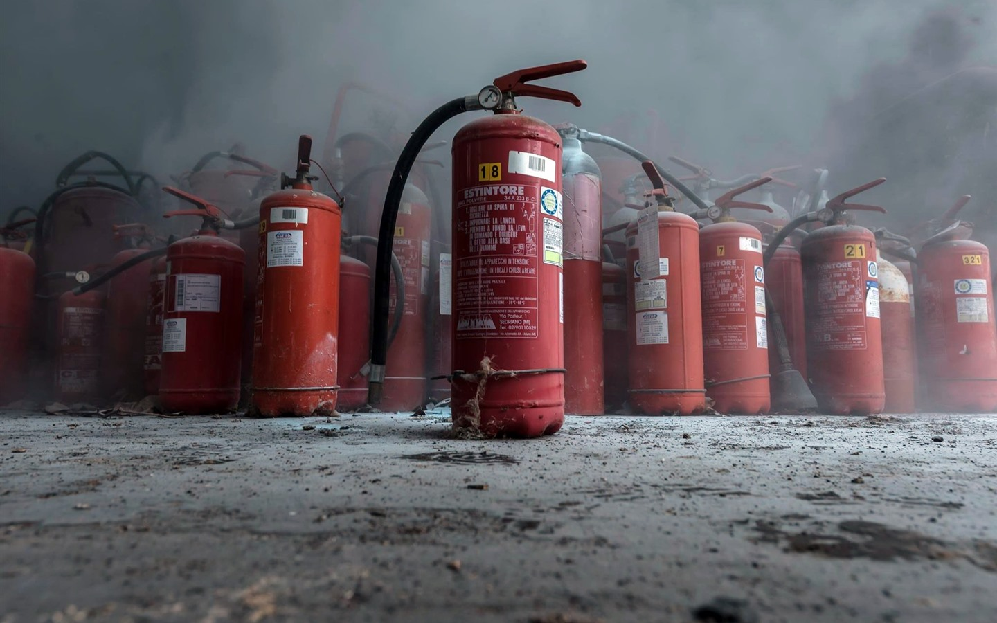 Wallpaper Fire Extinguishers Dust 1920x1200 Hd Picture Image