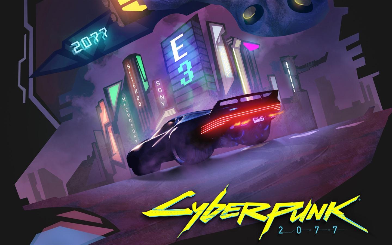 壁纸 赛博朋克 2077,超级跑车,夜晚,城市,E3游戏 2560x1440 QHD 高清壁纸, 图片, 照片