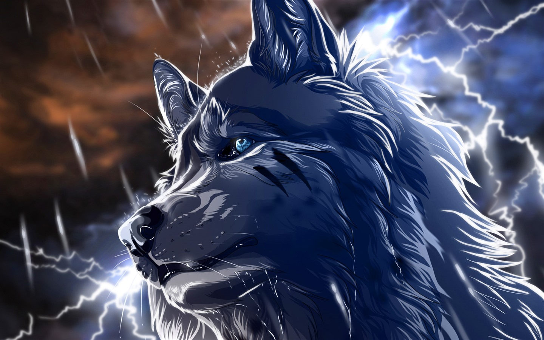 16 Luxury Pubg Wallpaper Iphone 6: 壁紙 オオカミ、青い目、雷、アート画像 2560x1600 HD 無料の