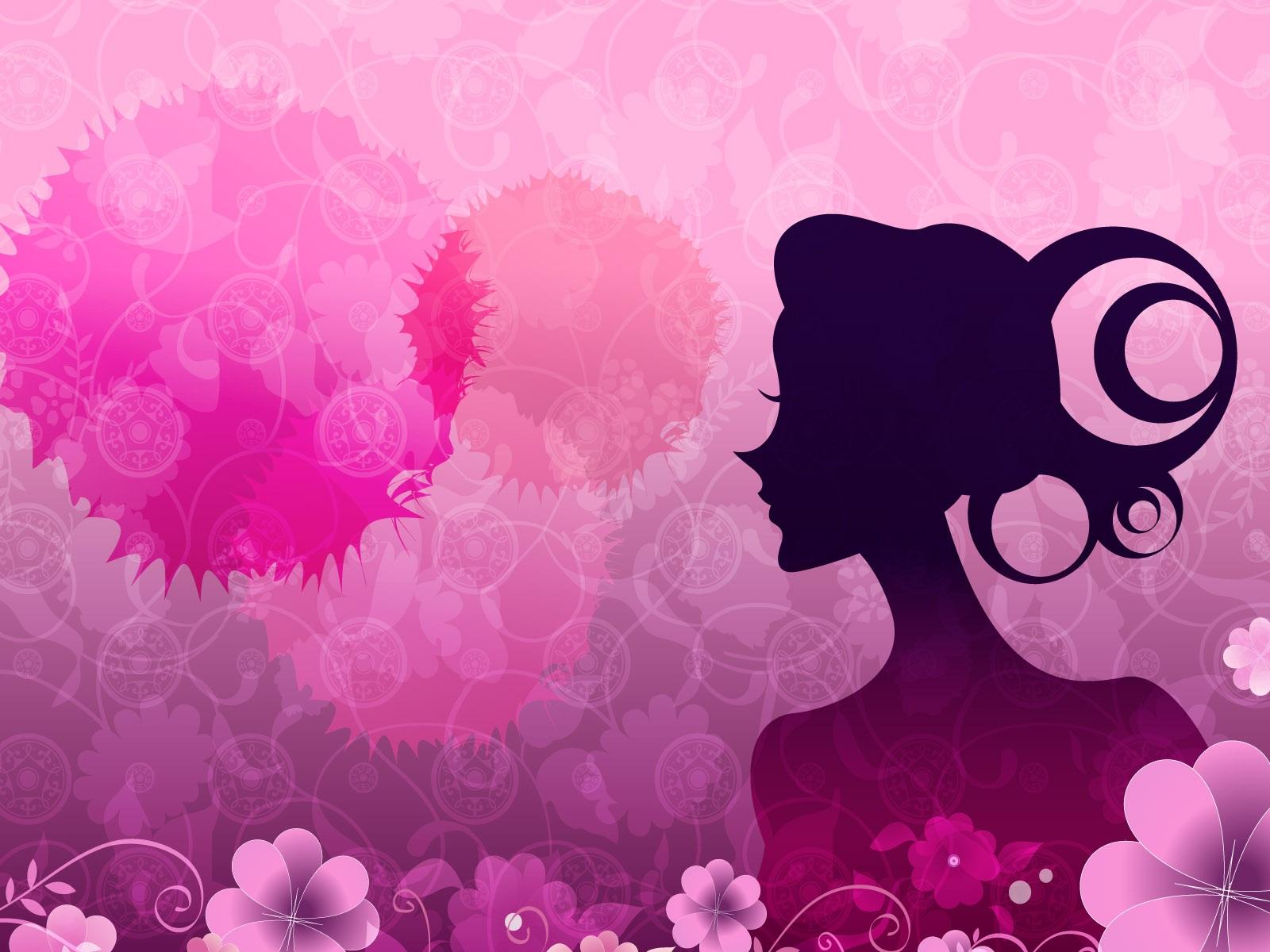 Vector Las Mujeres Flores De Color Rosa Fondos De Pantalla   1600x1200