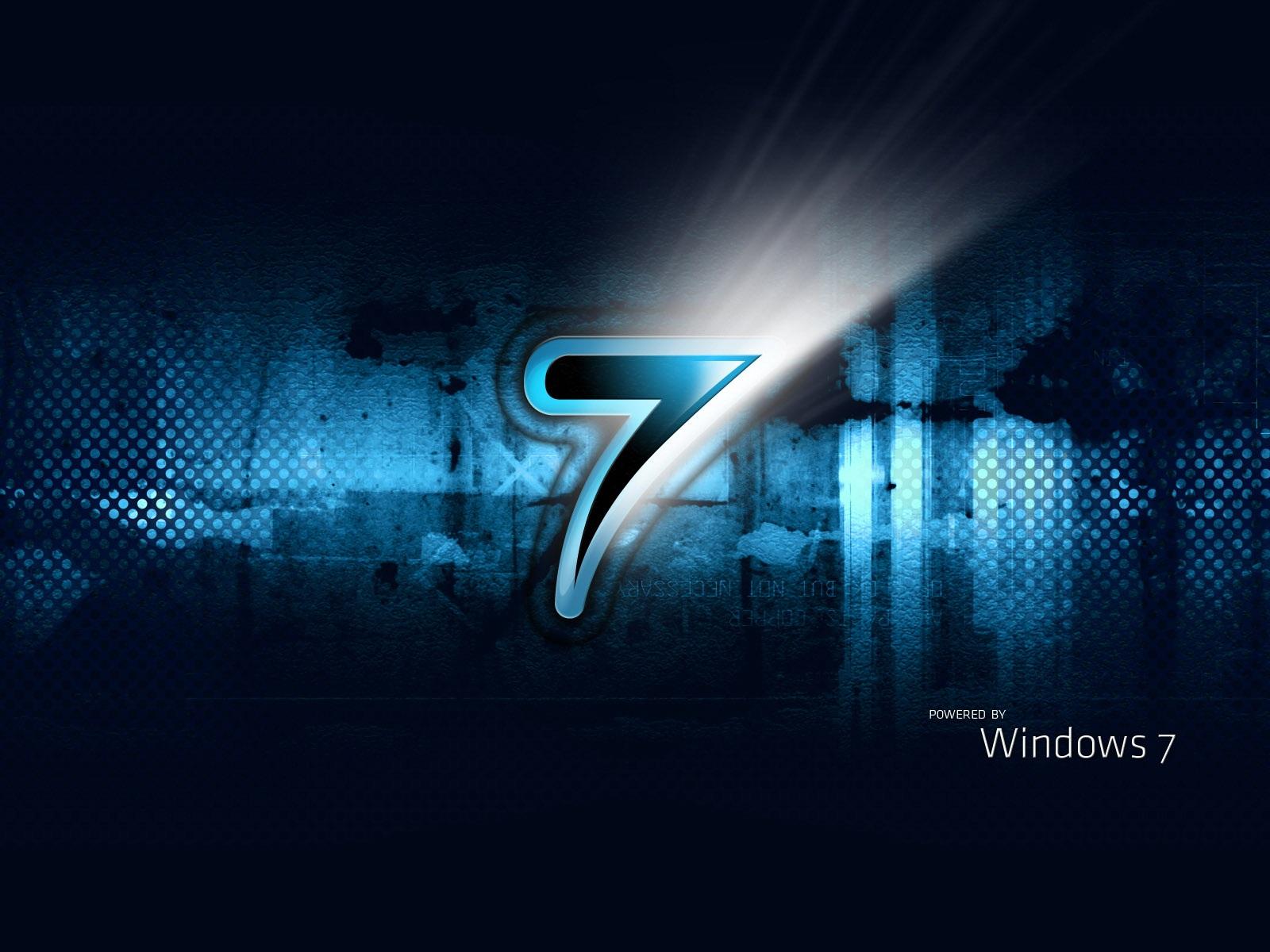 Wallpaper Windows7 Three Dimensional Blue Black 1920x1200 Hd