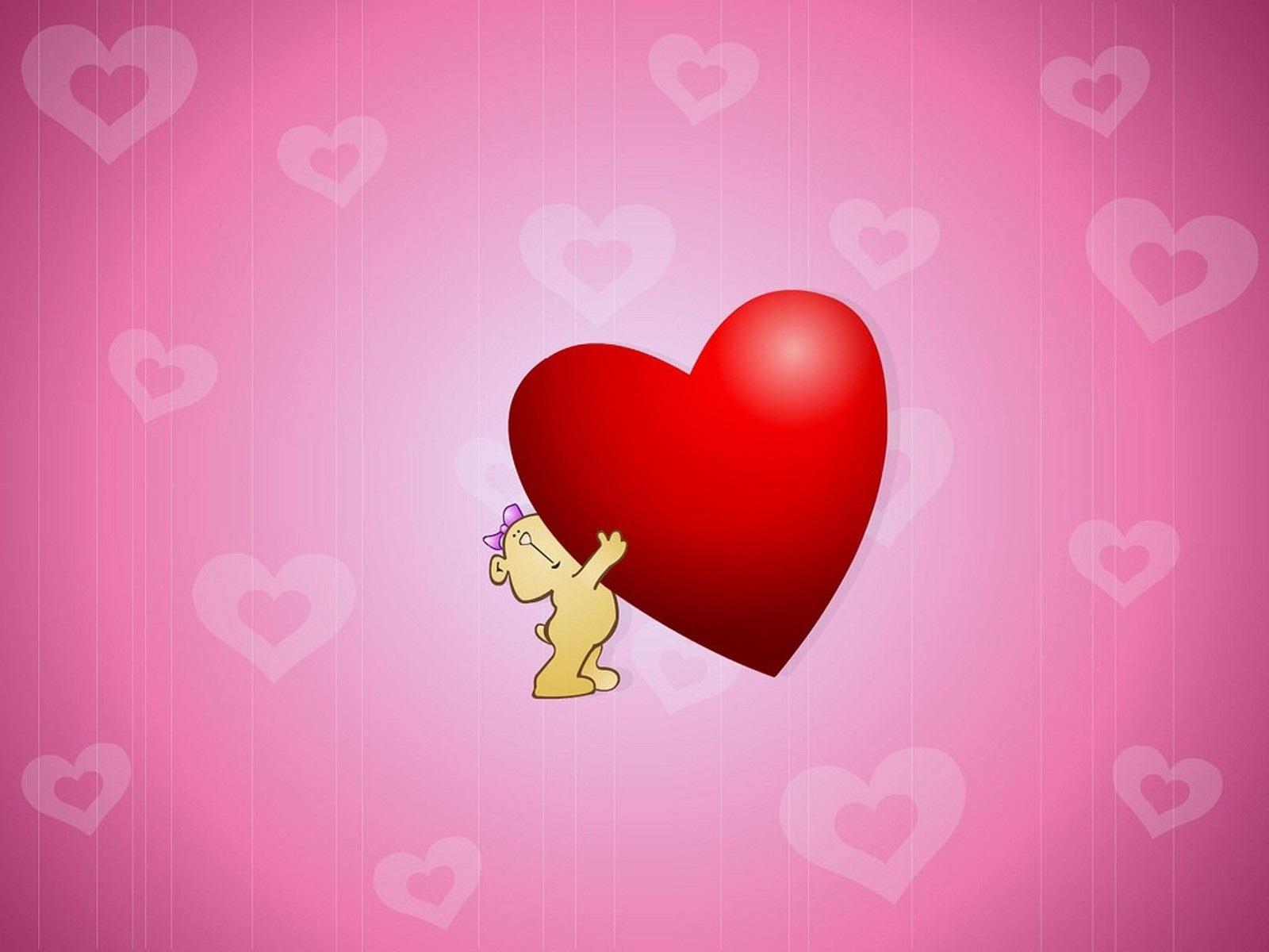 Cute Love Heart Wallpaper: Cute Hug Love Heart Wallpaper