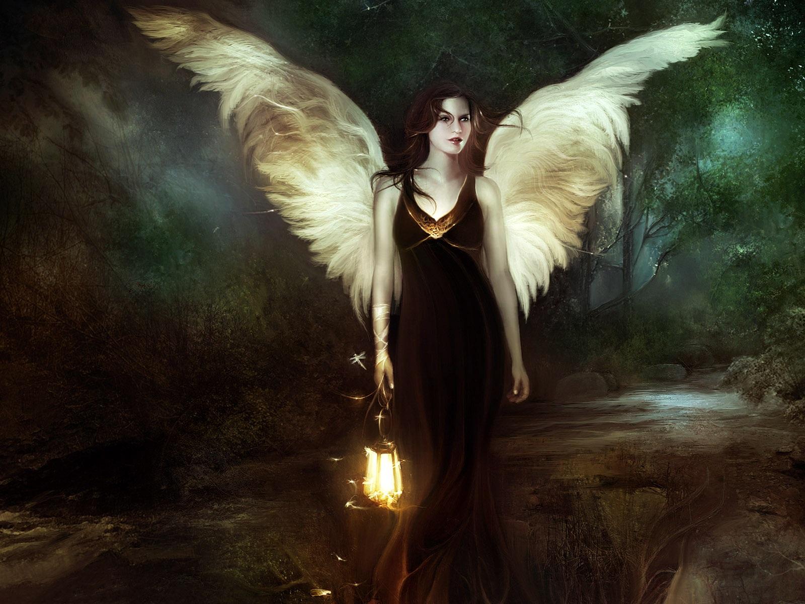 Nacht engel mädchen hintergrundbilder - 1600x1200