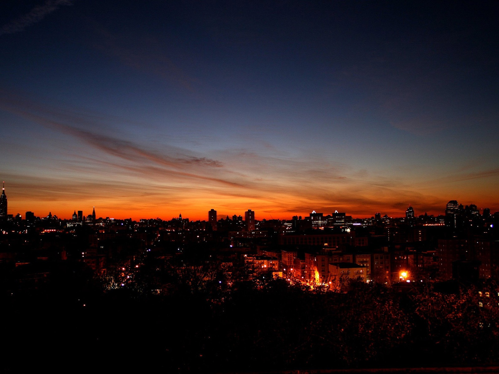 Wallpaper Night City Sky 2560x1600 Hd Picture Image