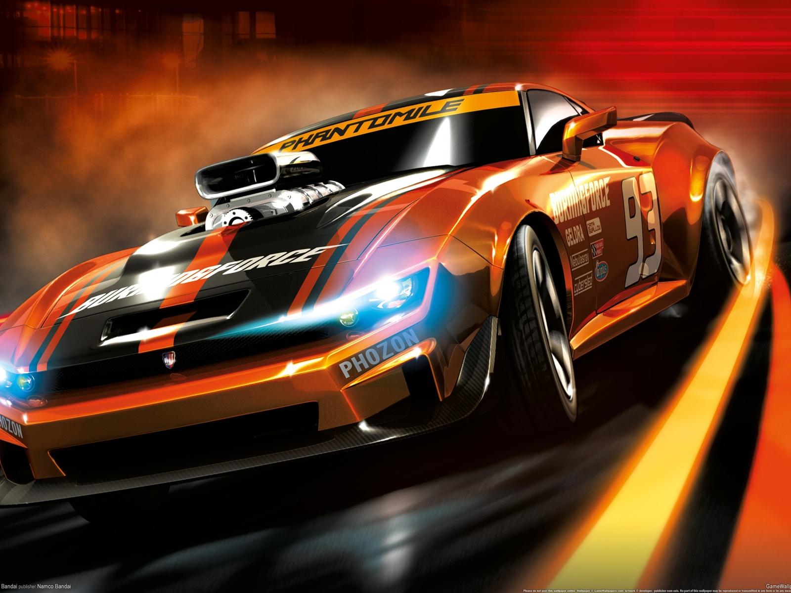 белый спортивный автомобиль Ridge Racer 7 игра бесплатно