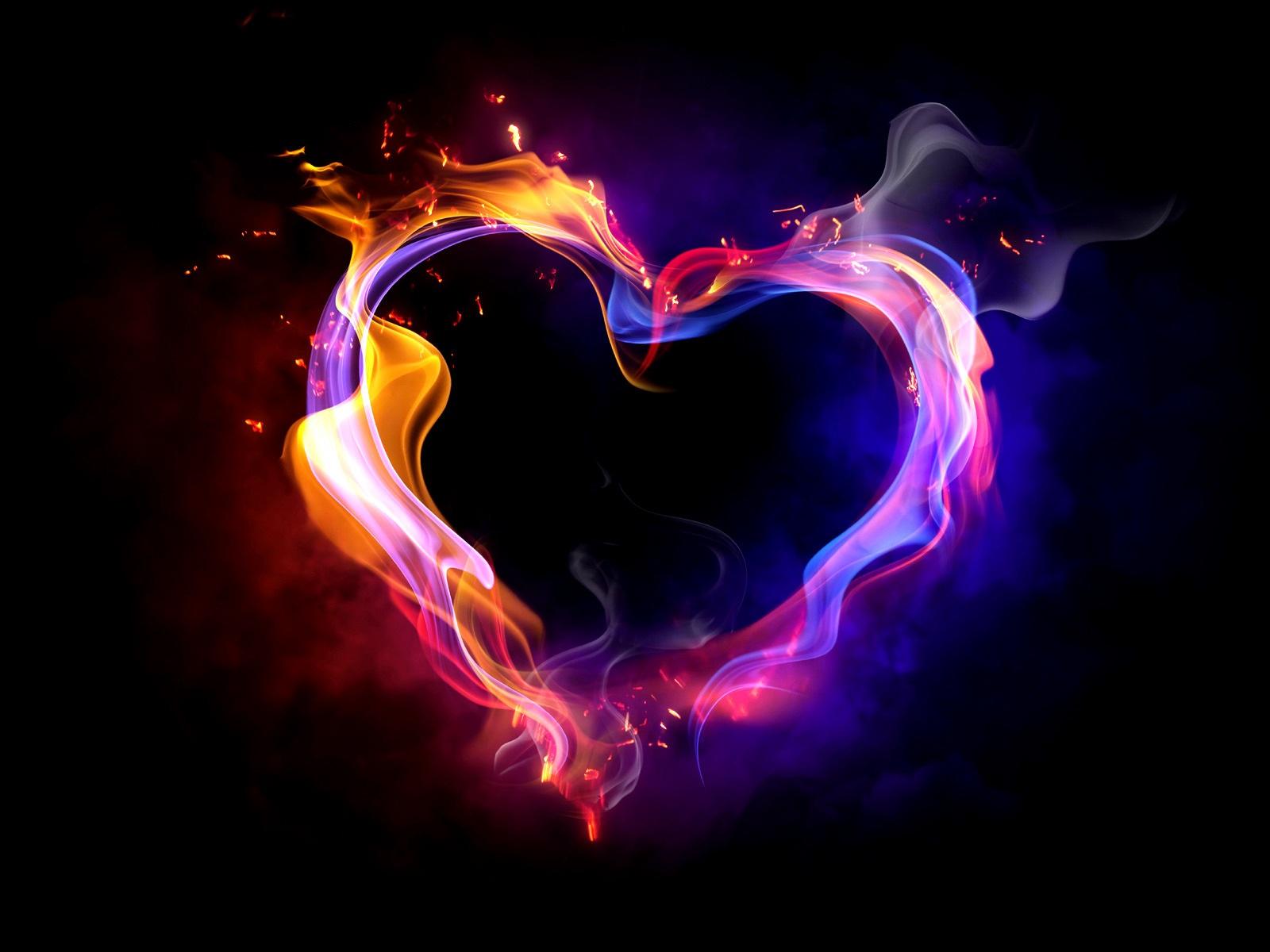 l amour du c ur le feu plusieurs fum e color e fonds d