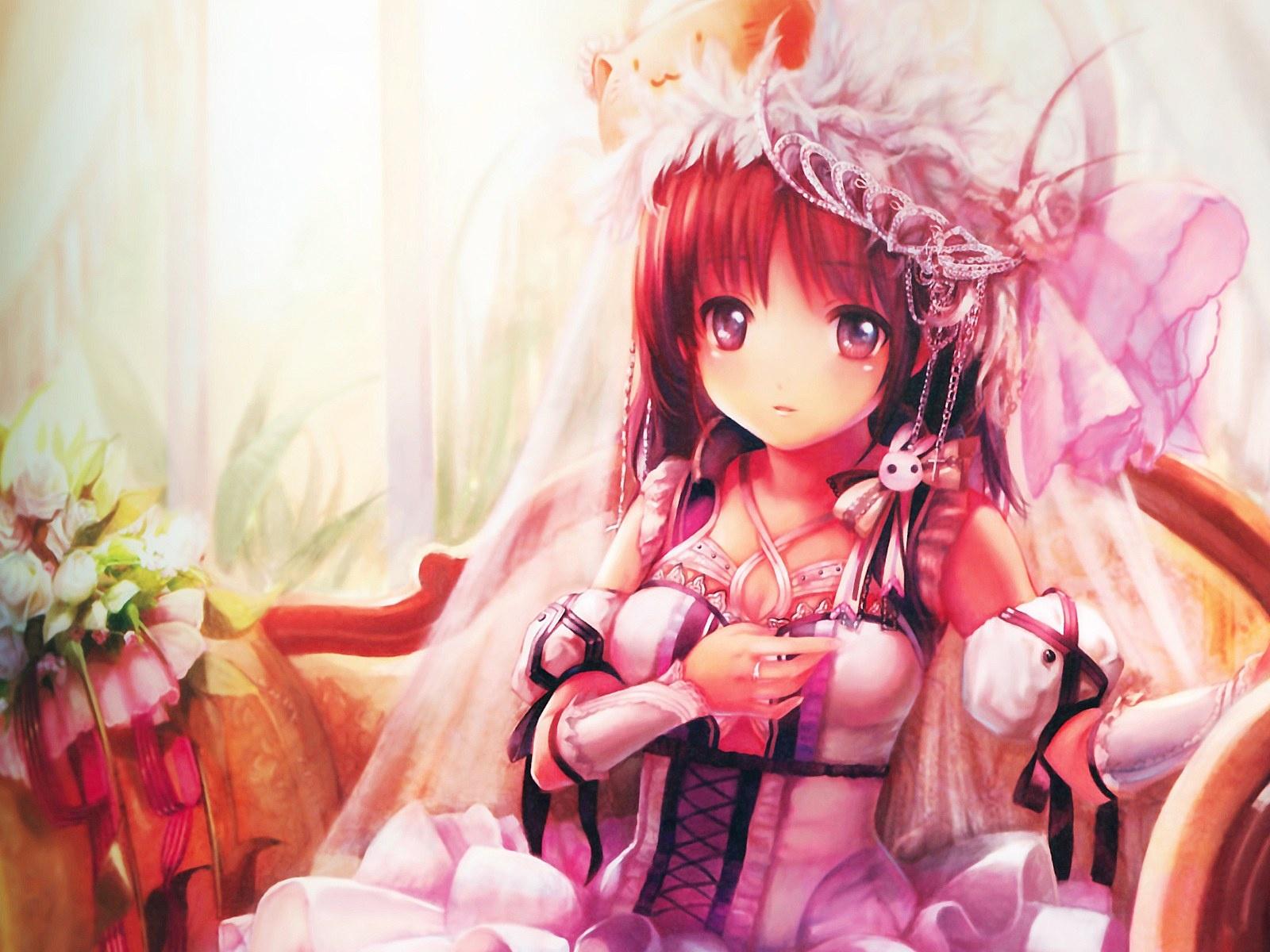 Cute anime girl dress up wallpaper 1600x1200 resolution - Anime 1600x1200 ...