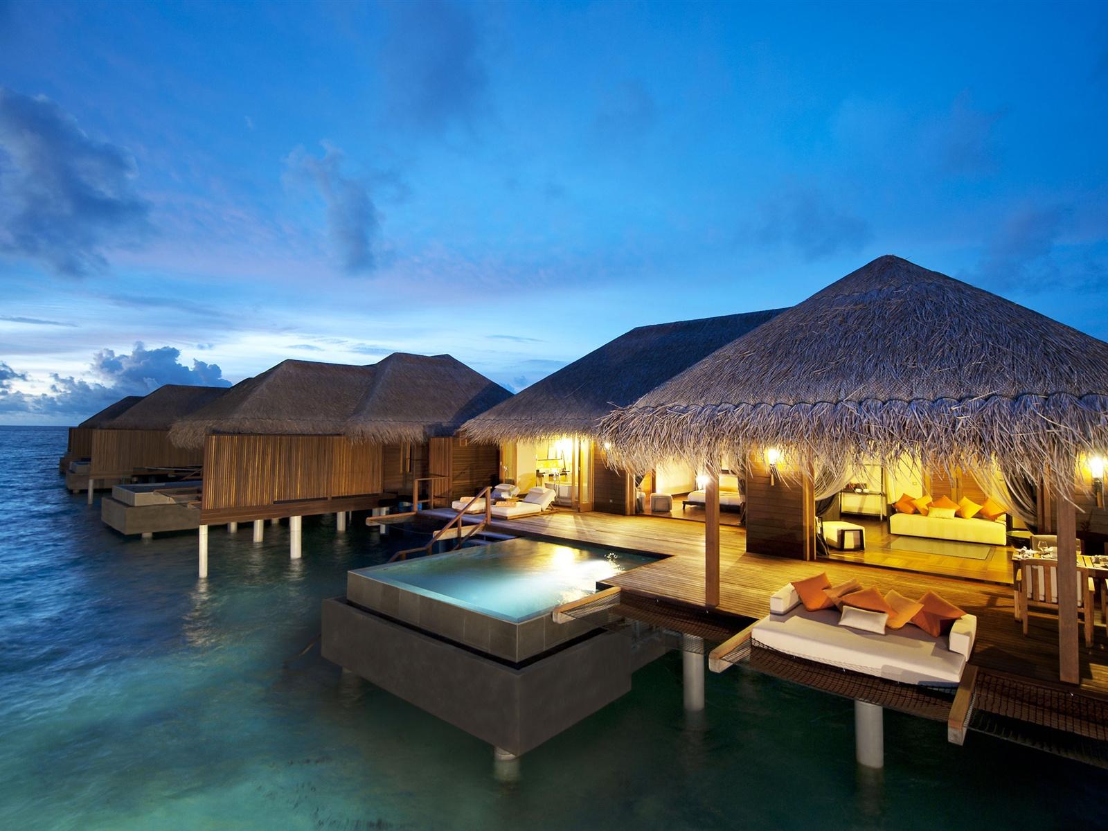 Hotel Maldives Indian Ocean Wallpaper 1600x1200