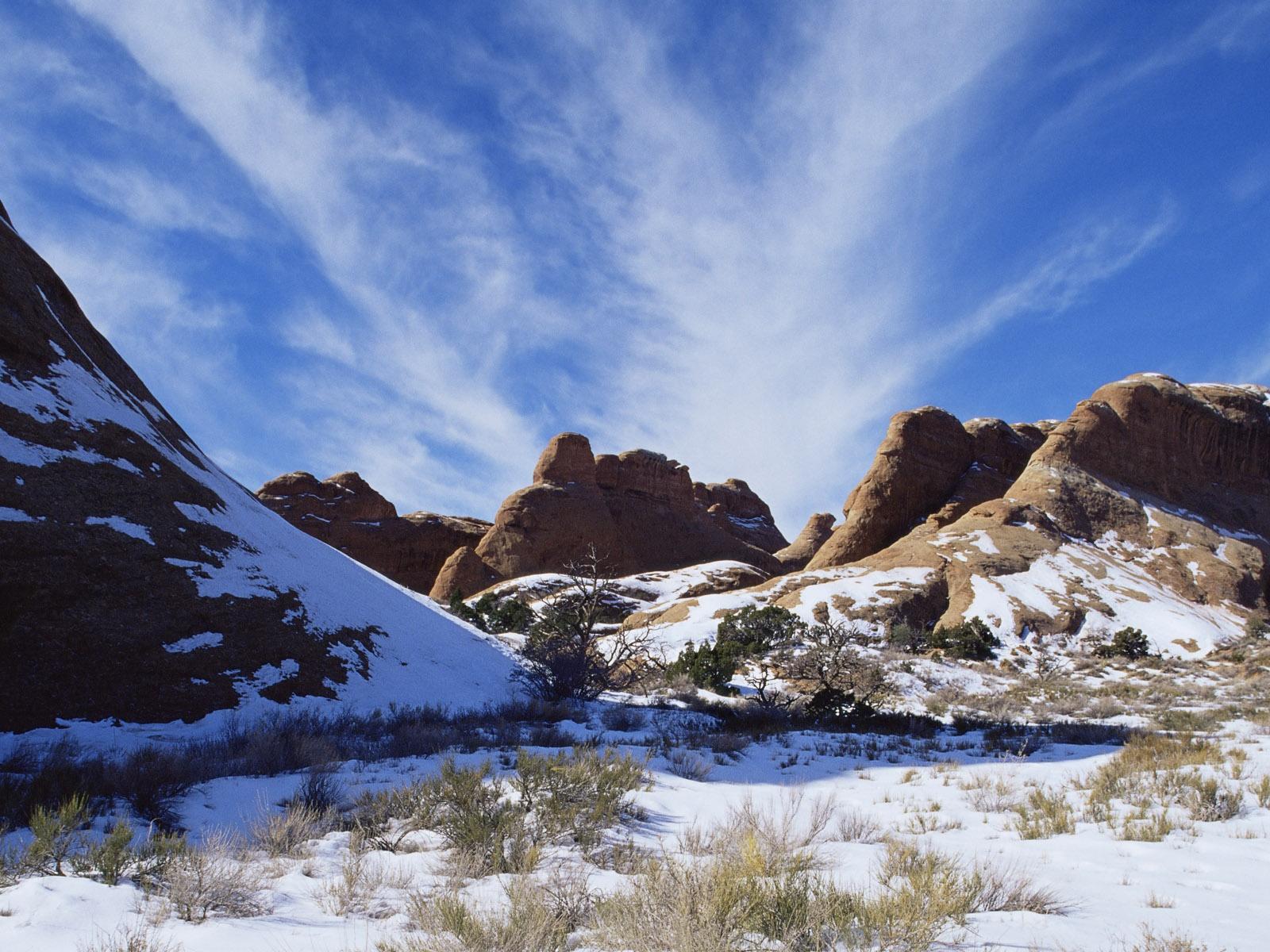 アメリカの風景、冬の雪に覆われた山 壁紙 - 1... アメリカの風景、冬の雪に覆われた山 壁紙