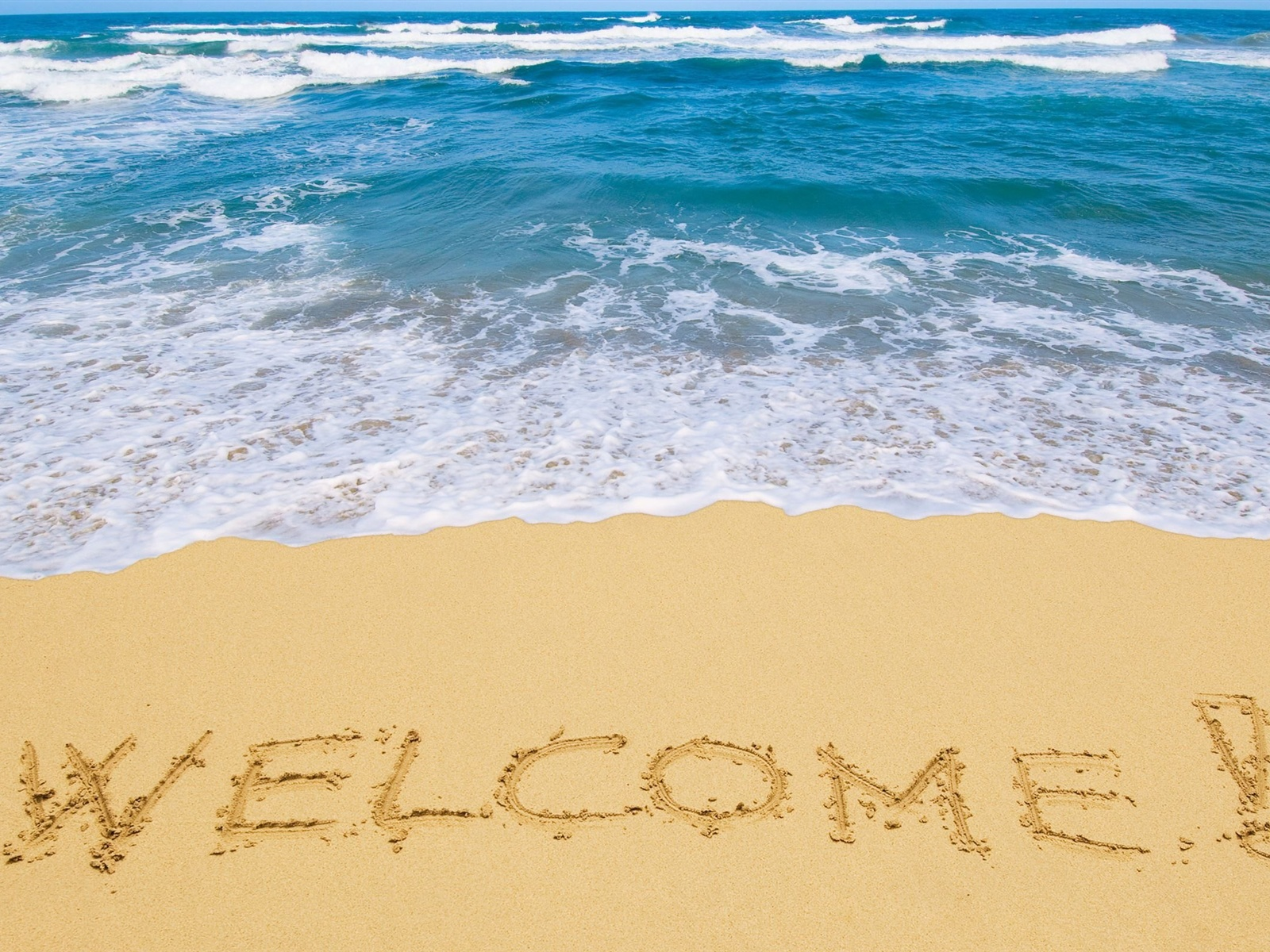 Welcome To The Beach Wallpaper 1600x1200 Resolution