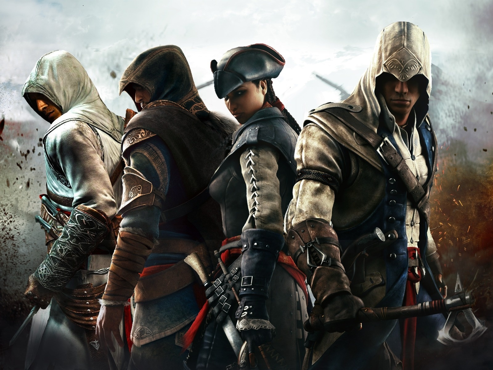 Assassin S Creed 3 Four Assassins 640x1136 Iphone 5 5s 5c
