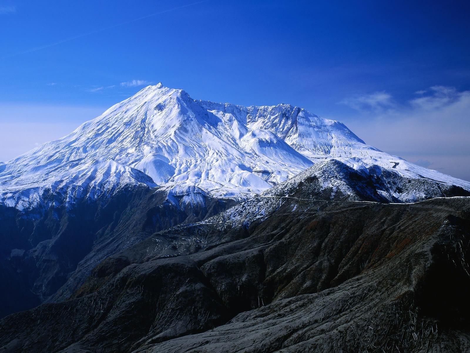 Montaña Nevada 1024x768: Fondos De Pantalla Montañas Coronadas De Nieve, El Cielo
