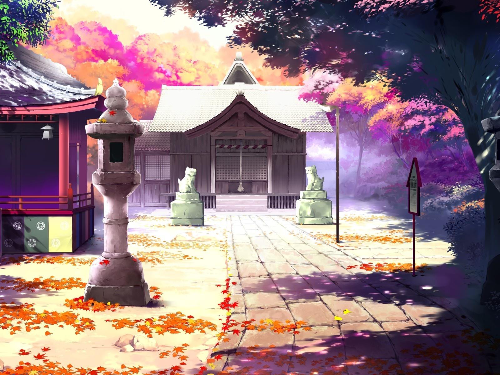 Hermoso paisaje animado, casas, otoño Fondos de pantalla | 1600x1200 ...: es.best-wallpaper.net/Beautiful-anime-scenery-houses-autumn...