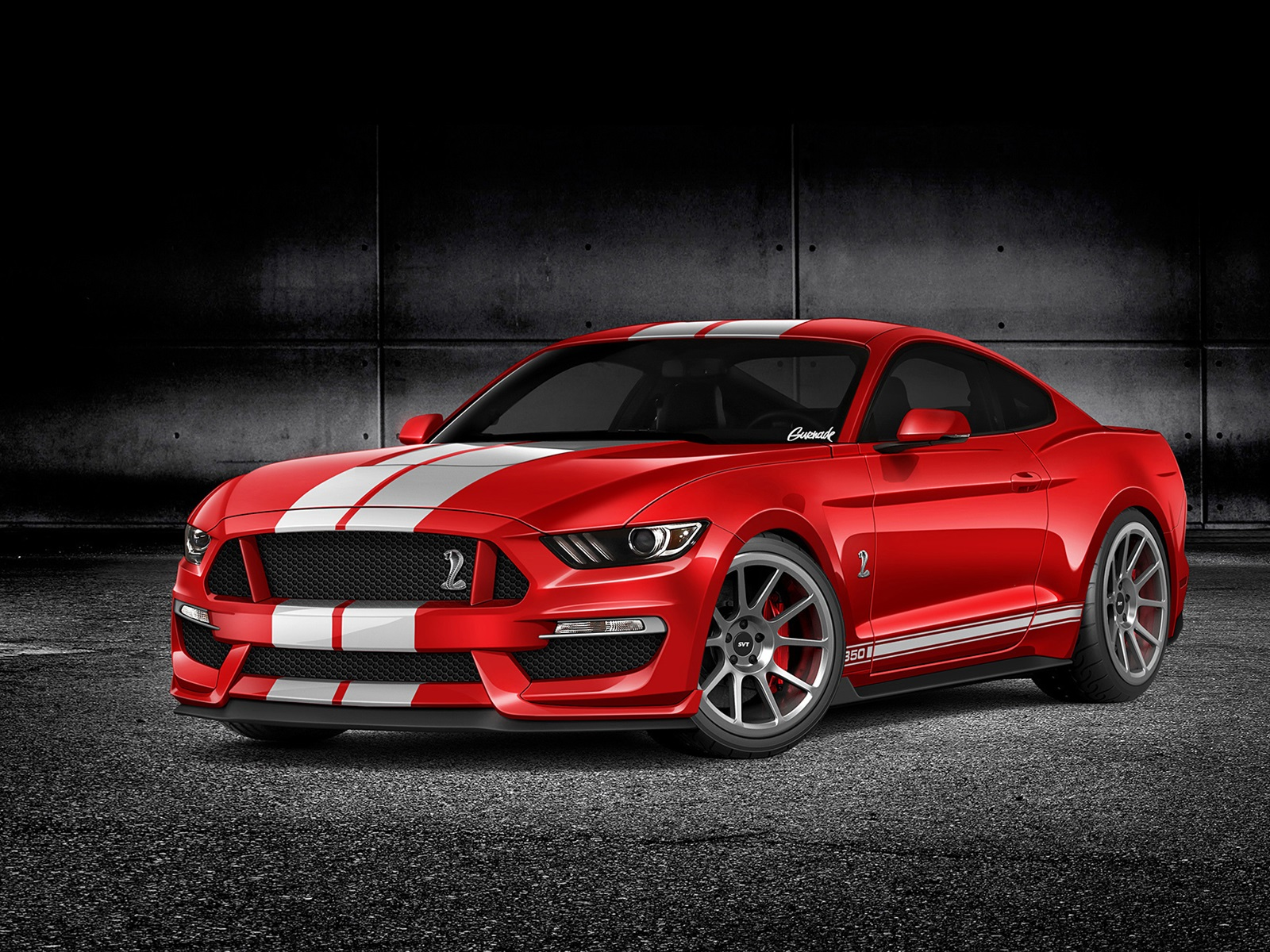 Wallpaper Ford Mustang Gt350 Red Car Front View 1920x1200 Hd Picture Image