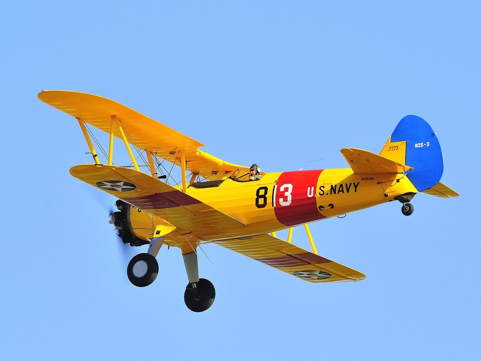 飛行機、複葉機、パイロット、レトロ、空 壁紙 -... 飛行機、複葉機、パイロット、レトロ、空