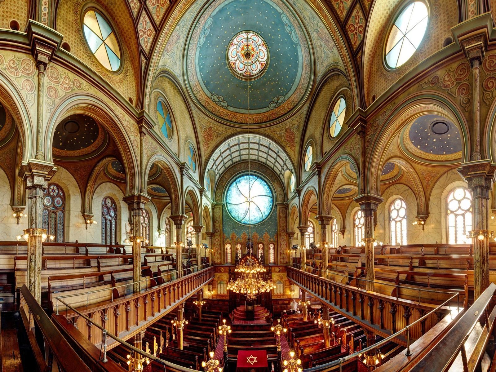 Download hintergrundbilder 1600x1200 synagoge interieur for Interieur new york