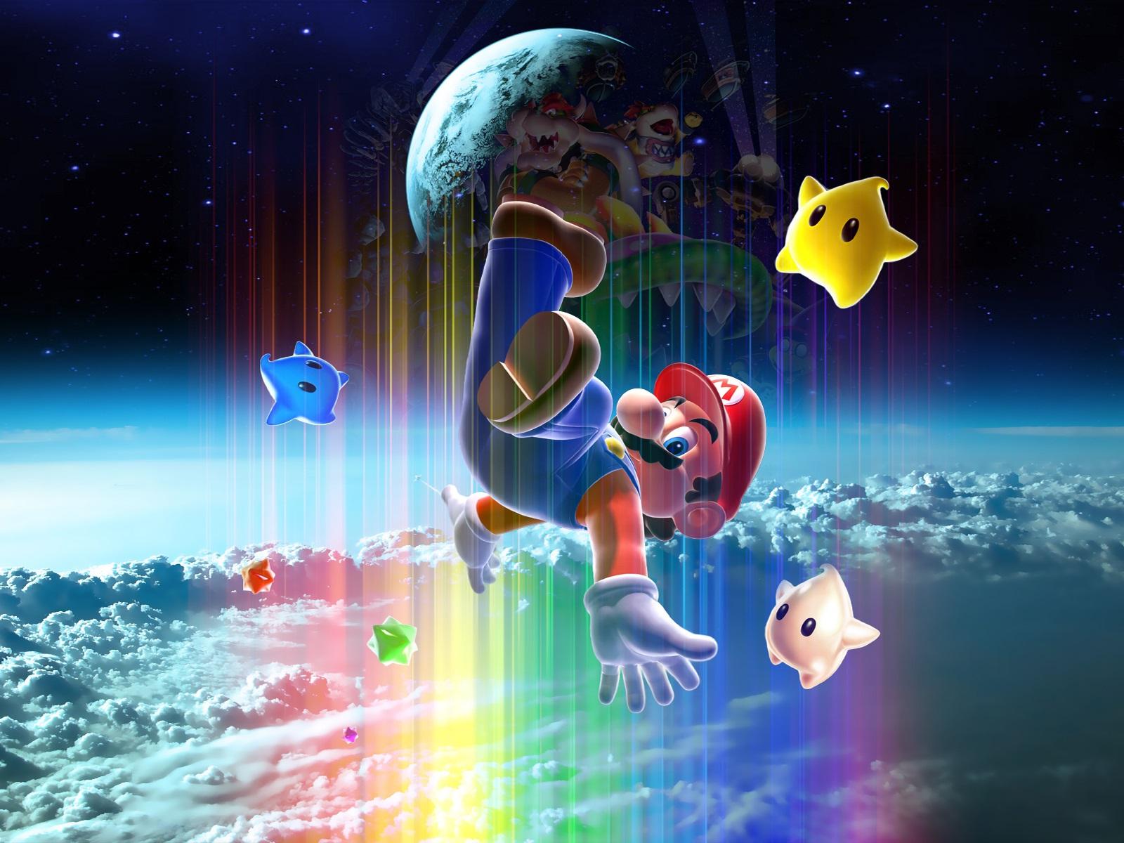 Download Wallpaper 1600x1200 Super Mario, classic game