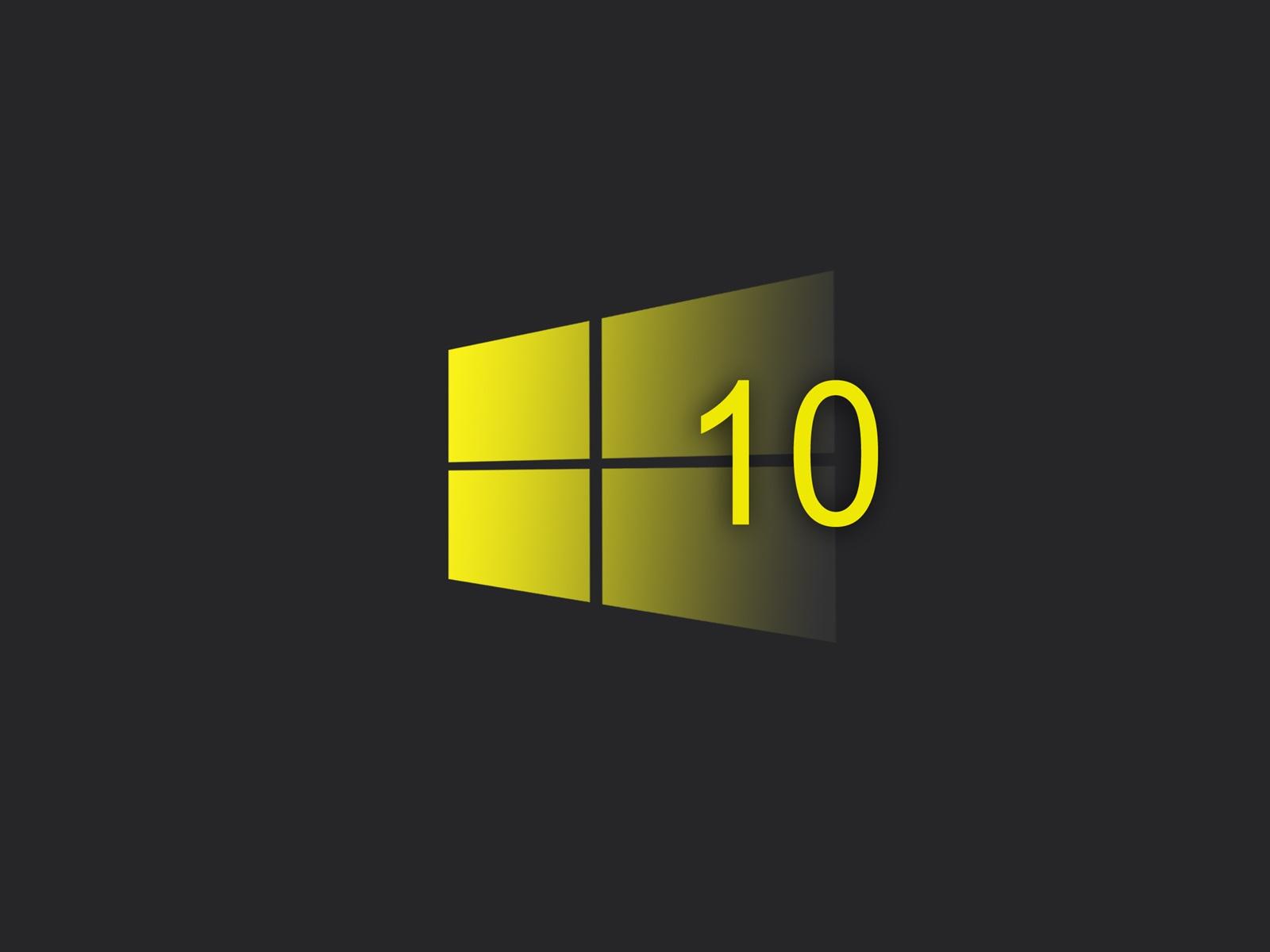 Papéis De Parede Sistema Windows 10, Logotipo Do Estilo
