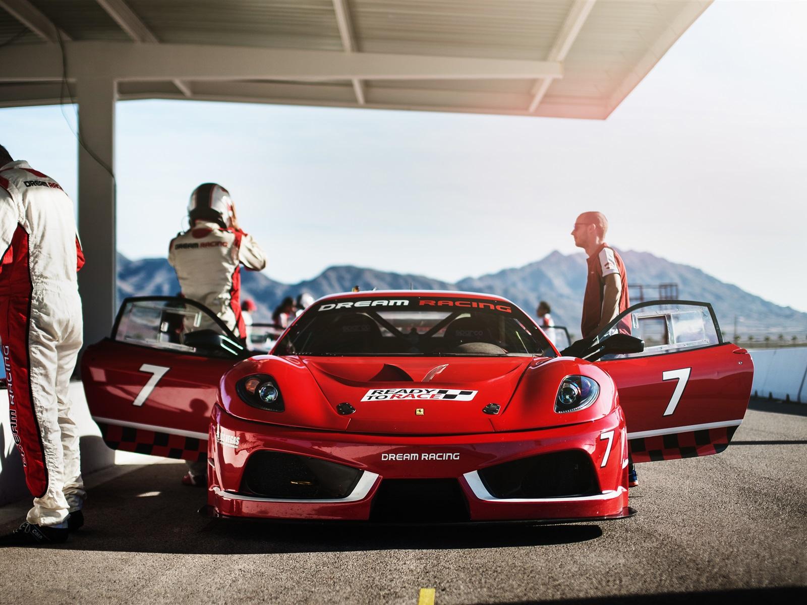 法拉利f430梦幻赛车,红色超级跑车前视图 壁纸 - 1600x1200