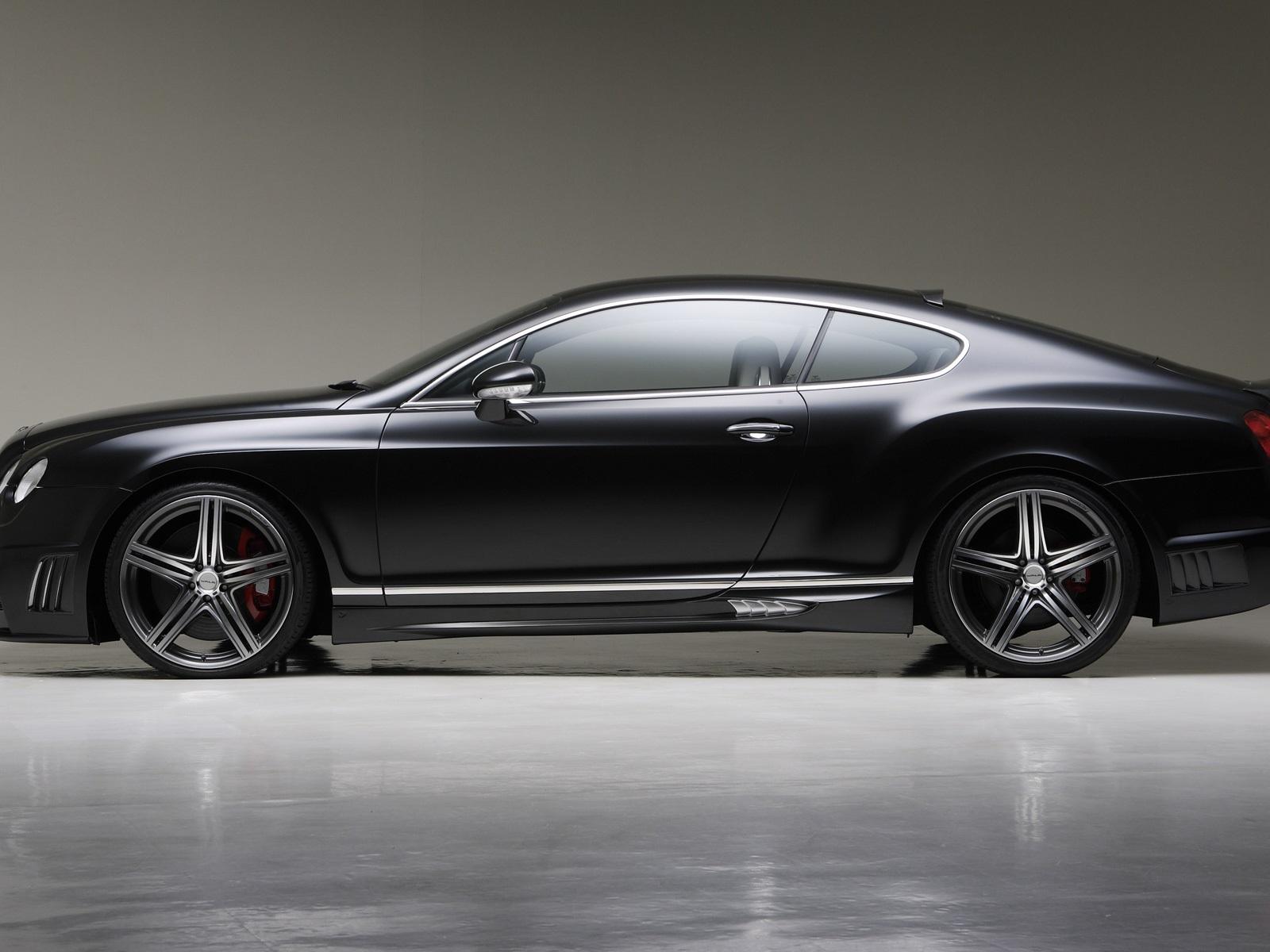 Fondos De Pantalla Vista Lateral Del Bentley Continental Gt Negro Para Autos 1920x1200 Hd Imagen