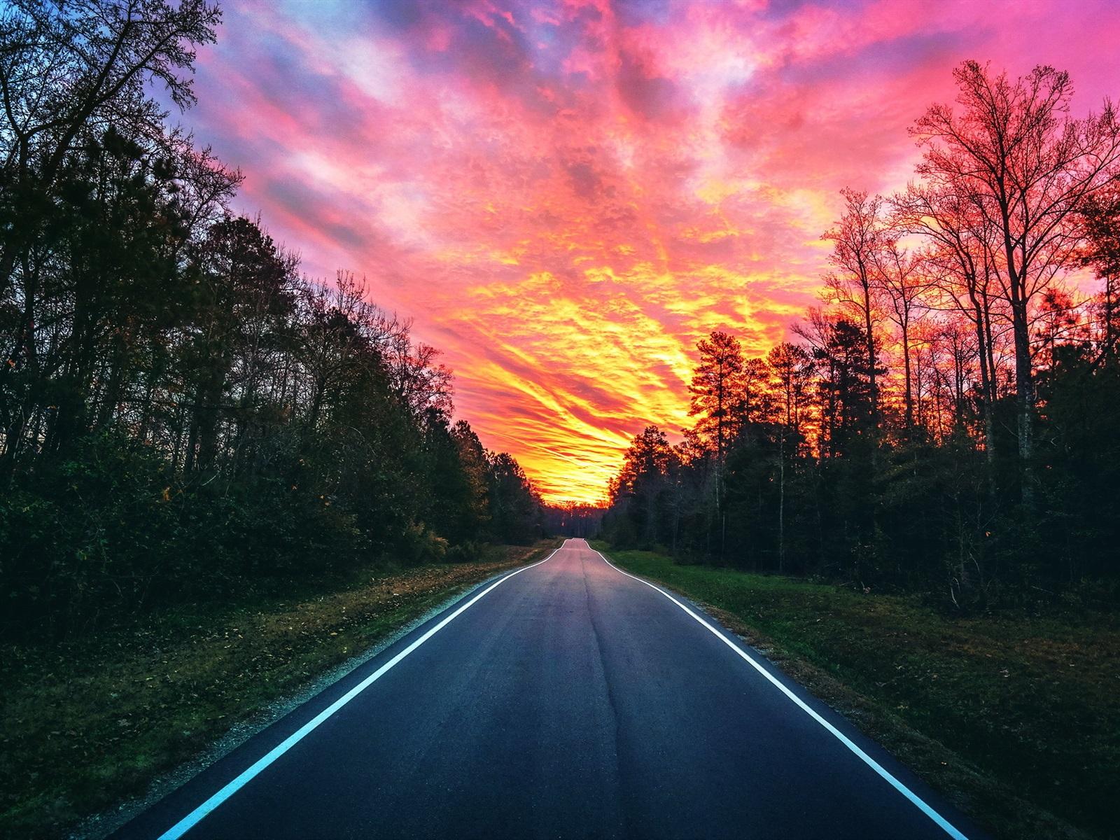 фото закат на дороге подскажите пожалуйста, какую