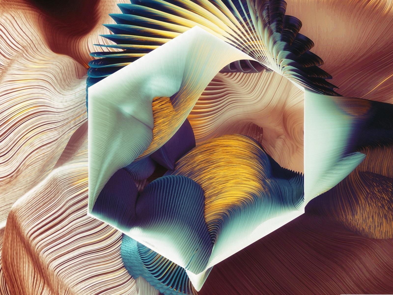 Fonds Décran Modèle Abstrait Hexagone Design Dart