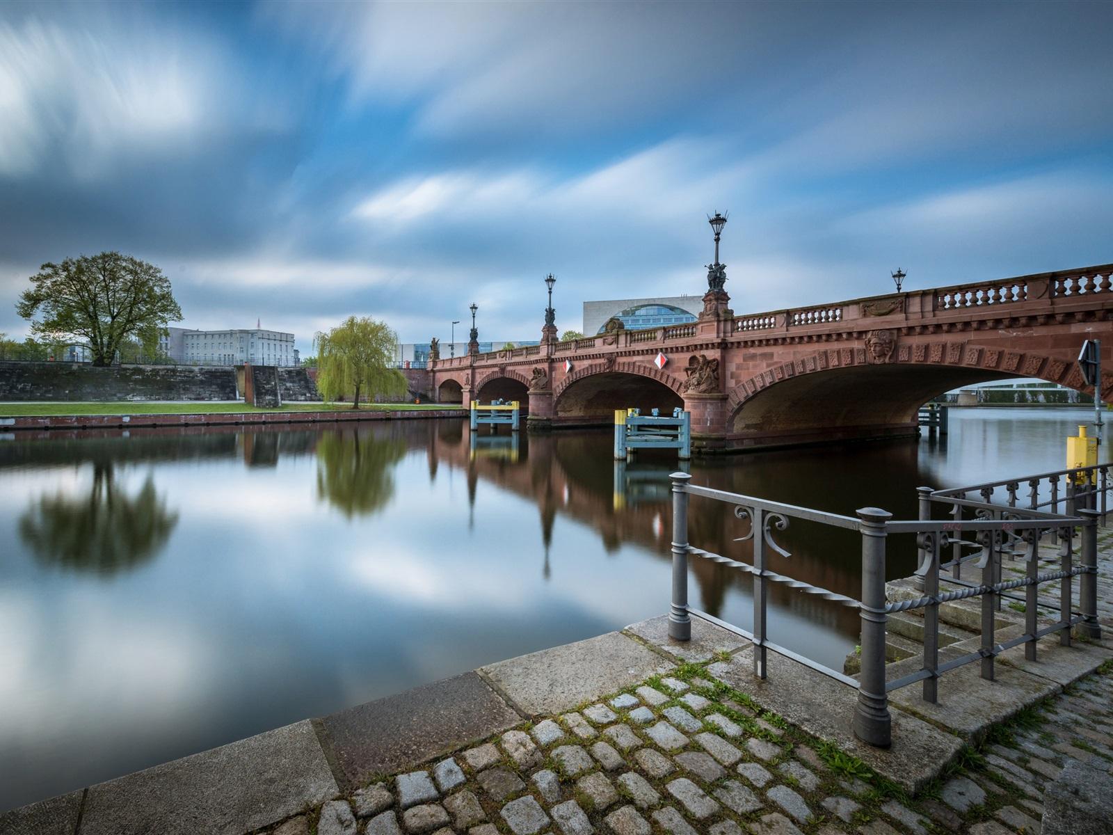 Обои deutschland, berlin, германия, oberbaumbrücke, spree. Города foto 15