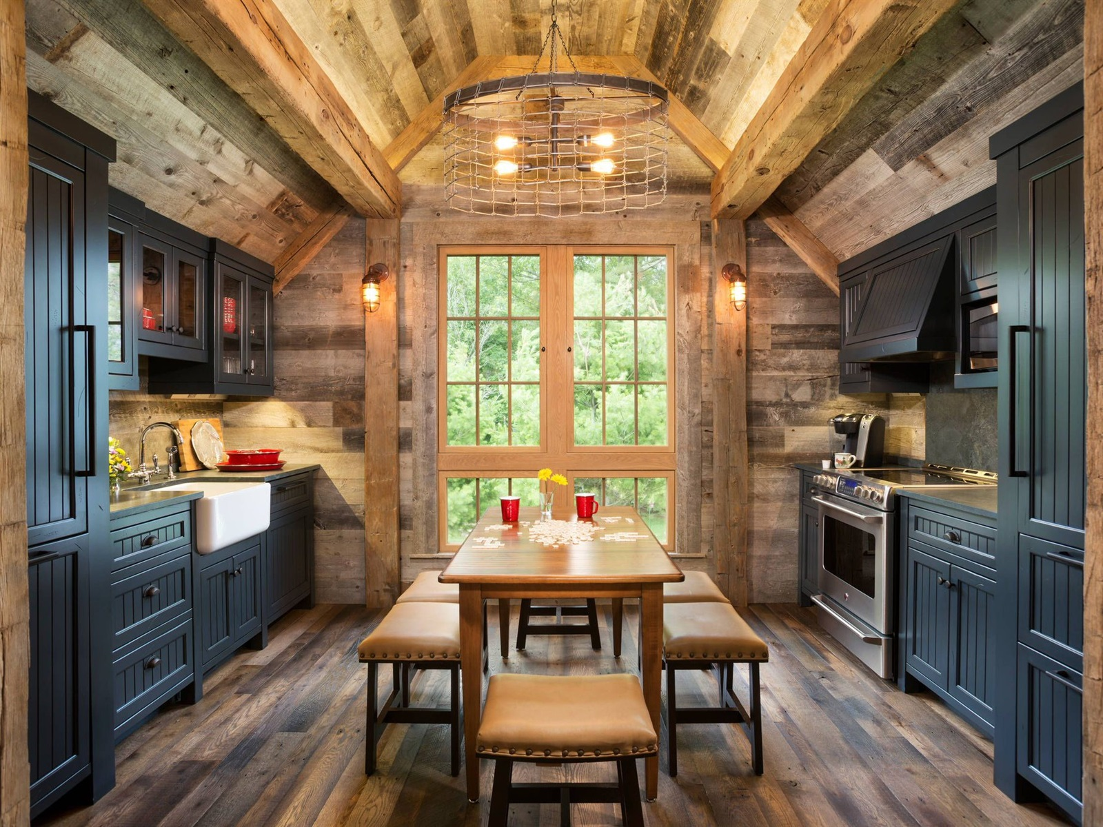 Wallpaper kitchen wooden house table lights 1920x1200 for Wallpaper with houses on it