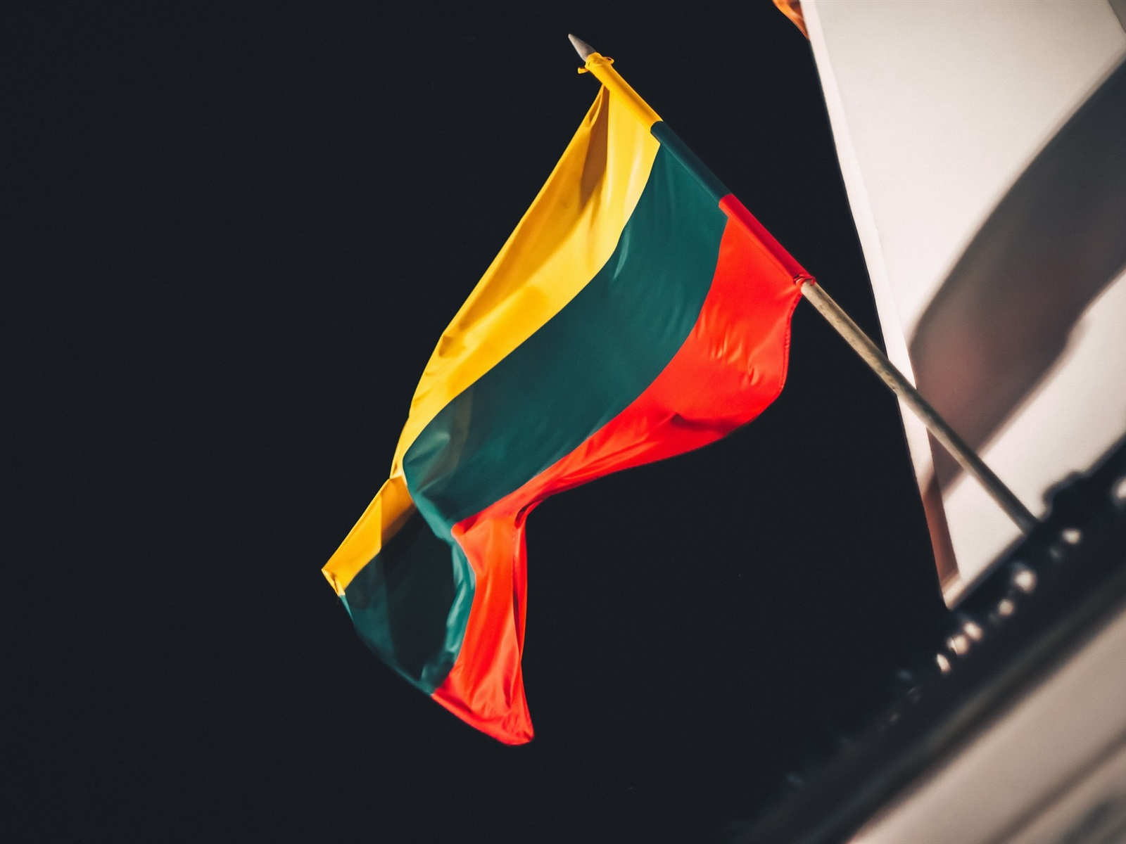Wallpaper Lithuania Flag Night 1920x1200 Hd Picture Image