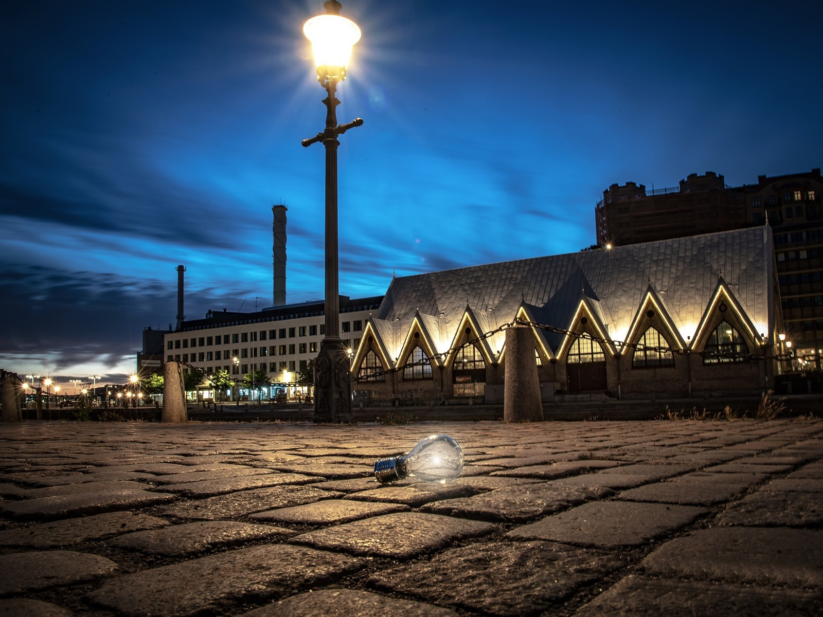 Обои Вечер, швеция, гетеборг. Города foto 17