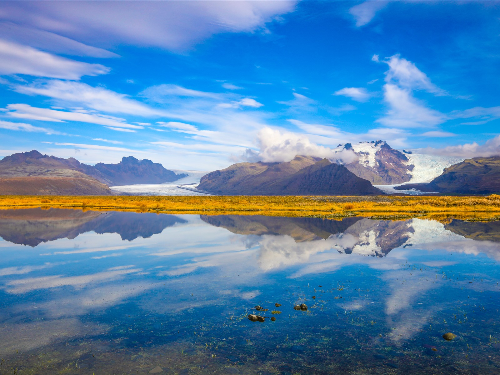 Wallpaper Iceland Sea Mountains Blue Sky Water Reflection 51x Uhd 5k Picture Image