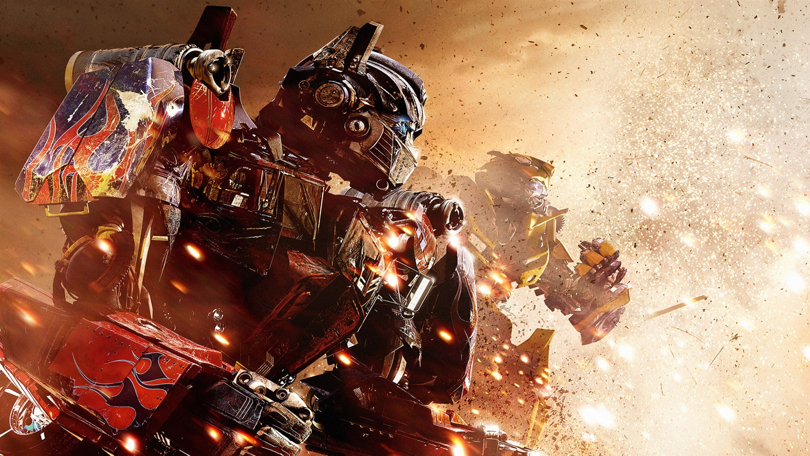 Optimus Prime and Bumblebee in Transformers 3 wallpaper 1600x900